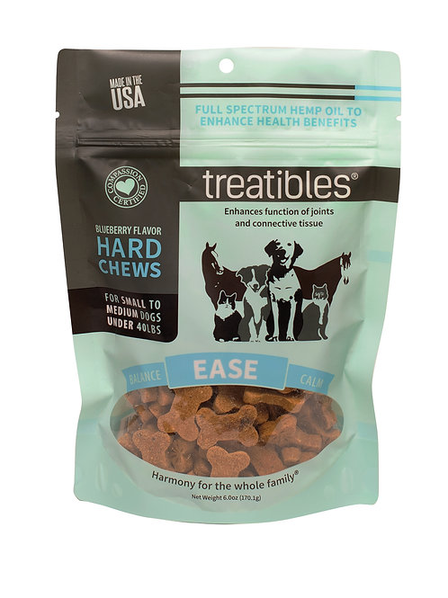 Treatibles – Hard Chews – Small Dog – Blueberry Flavor