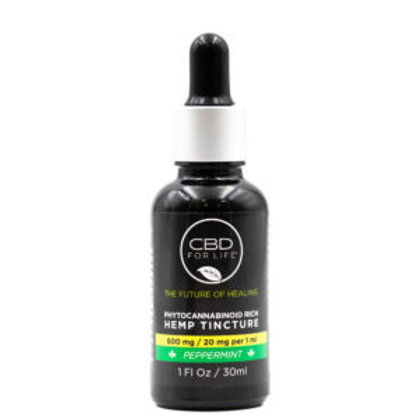 CBD FOR LIFE Phytocannabinoid Rich Hemp Tinctures - 600mg - 30mL - Peppermint