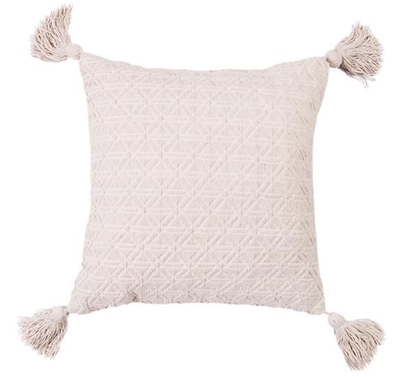 Cream Embellished Cushion