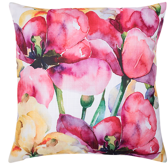 Pink Water Colour Cushion