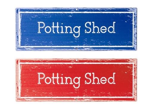 Potting Shed Sign