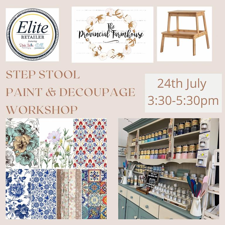 Step Stool Paint & Decoupage Class July