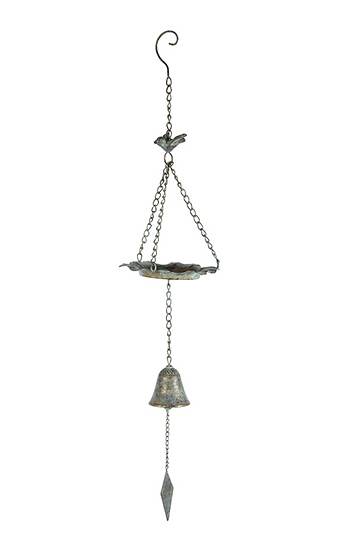 HANGING BIRD FEEDER W/BELL