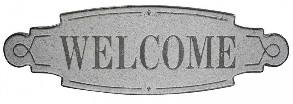 Galvanised Welcome Sign