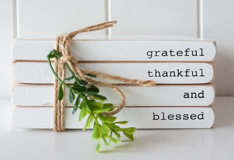 Grateful, Thankful, Blessed Decor