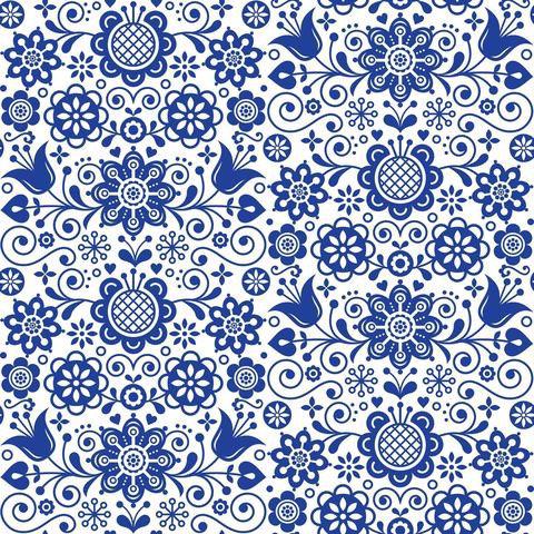 Dixie Belle Decoupage Rice Paper -BLUE GLASS ORNATE