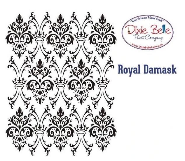 Dixie Belle- 'Royal Damask' Stencil