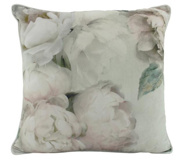 White Peony Velvet Cushion