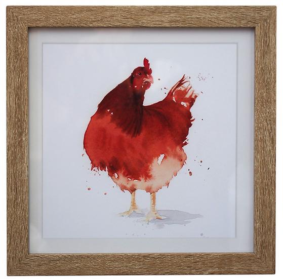 Red Chicken Art