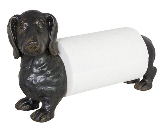'Black' Sausage Dog Paper Towel Dispenser