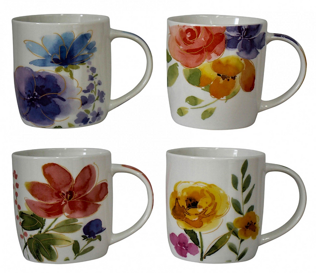 Watercolour Flower Mug