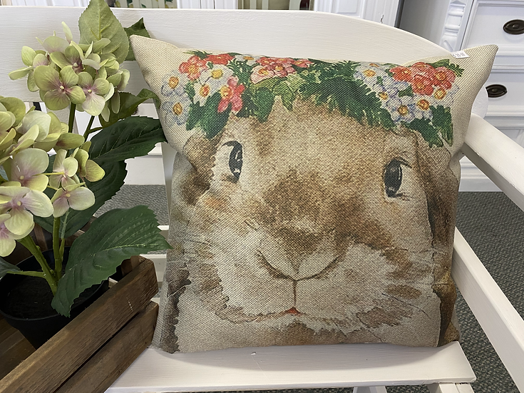 Bunny with Crown Cushion