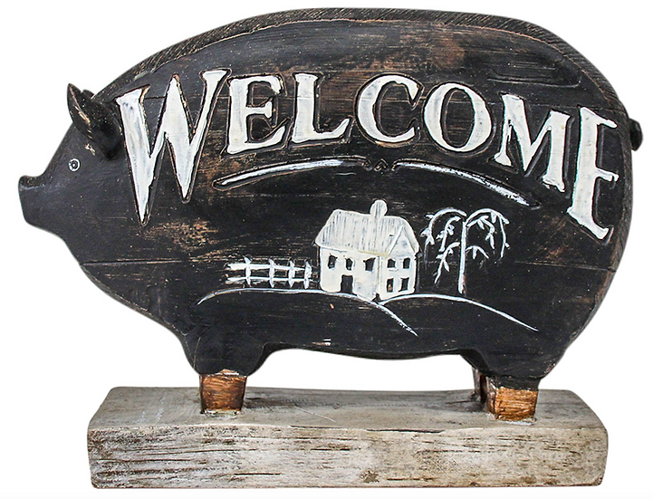 Welcome Pig Statue