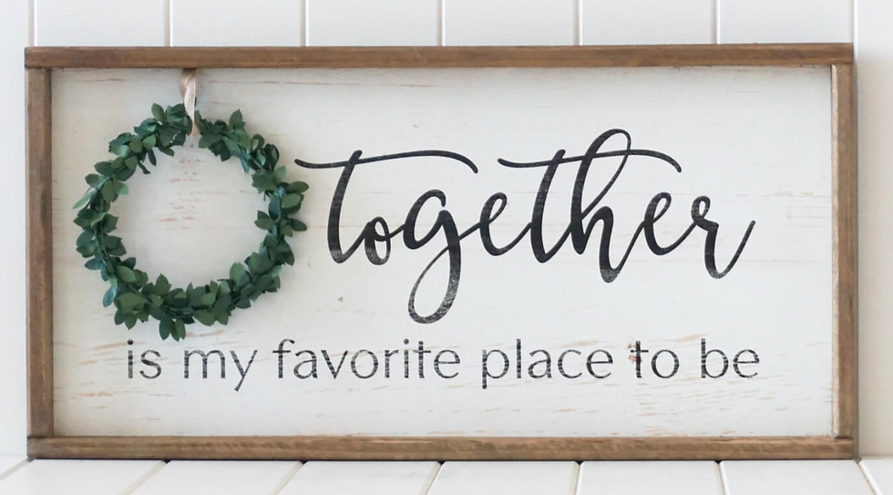 Together Sign with Wreath