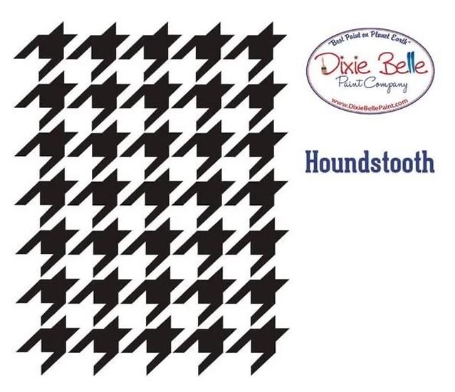 Dixie Belle- 'Houndstooth' Stencil