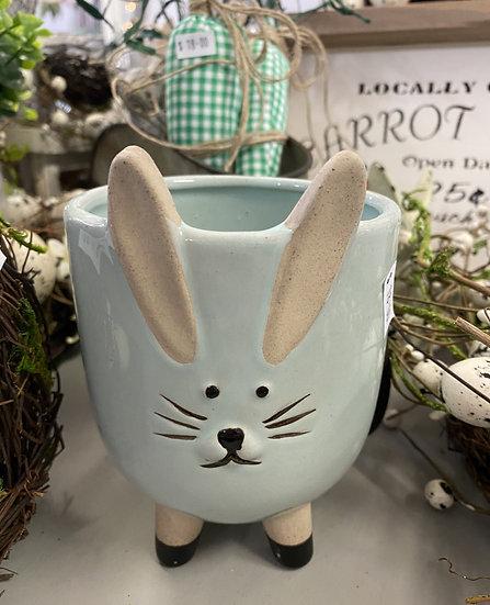 Green Bunny Planter Large