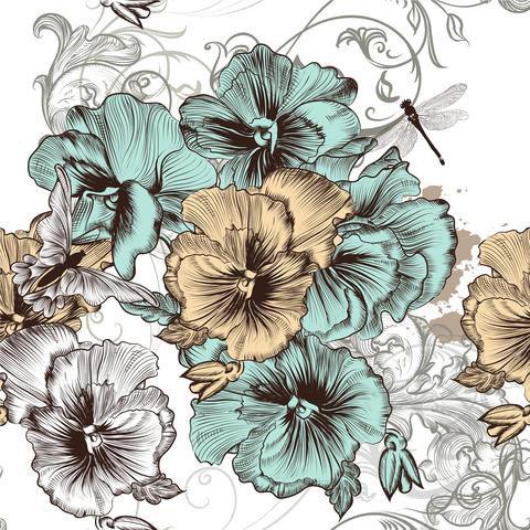 Dixie Belle Decoupage Rice Paper -BLUE & YELLOW FLORAL