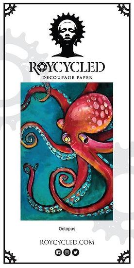 Roycycled Treasures Octopus Decoupage Paper