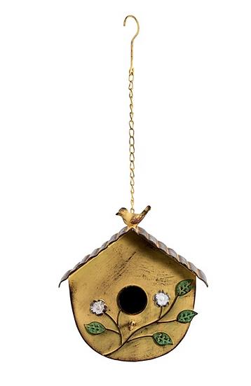 Distressed Yellow Bird House