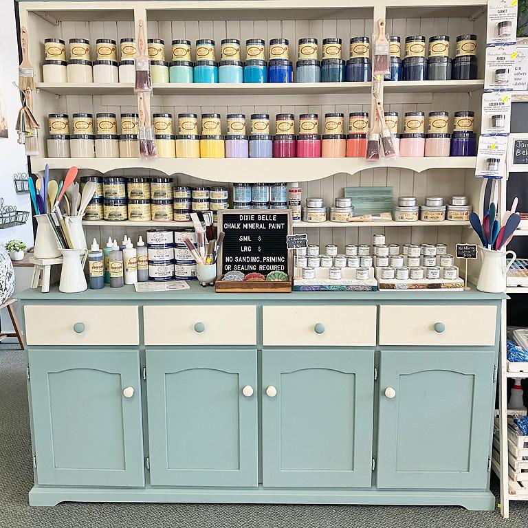 BYO Furniture Chalk Mineral Paint Workshop 10th July