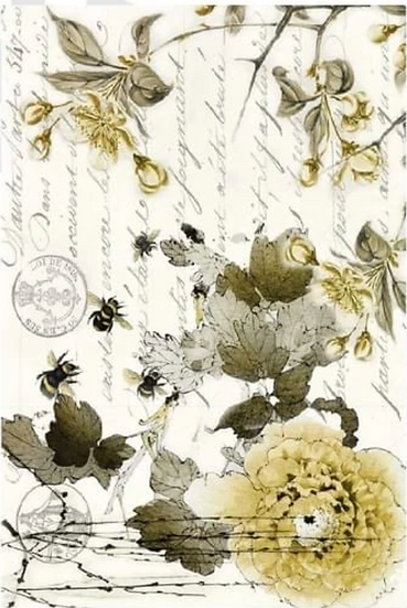 Roycycled Treasures Sepia Blossom