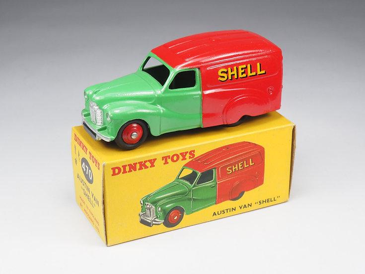 "DINKY TOYS ENGLAND - 470 - AUSTIN VAN ""SHELL"" - 1/43e"