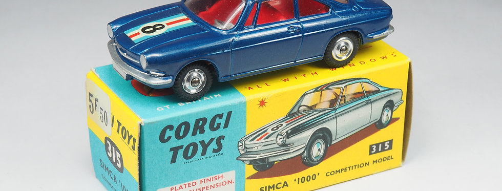 RARE CORGI TOYS - 315 - SIMCA 1000 COMPETITION - 1/43e