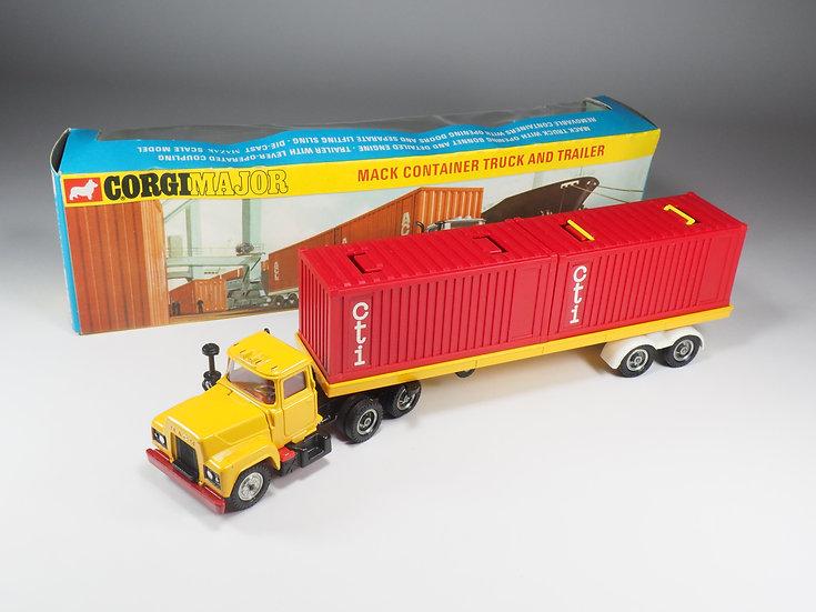"CORGI - 1106 - MACK CONTAINER TRUCK - PROMOTIONNAL ""CTI"""