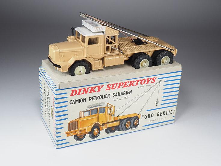 DINKY TOYS FRANCE - SUPERTOYS - 888 - GBO BERLIET PETROLIER - CREAM WHEELS
