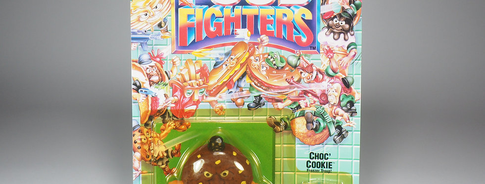 MATTEL - FOOD FIGHTERS - CHOC' COOKIE (CHIP THE RIPPER) - BROWN VARIATION
