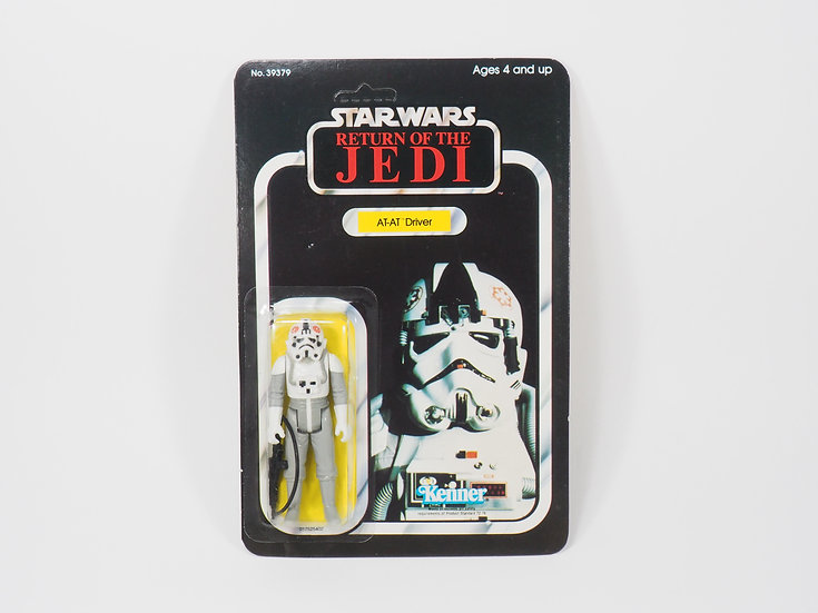 KENNER VINTAGE - ROTJ - 1983 - AT-AT DRIVER ON CARD - HONG KONG