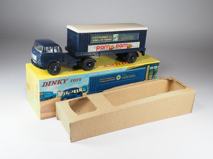 DINKY TOYS FRANCE - 803 - TRACTEUR UNIC ET REMORQUE SNCF