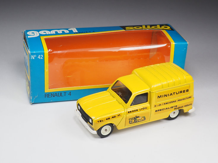 SOLIDO - 42 - RENAULT 4 - PROMOTIONNEL  'MINIATURES LYON'