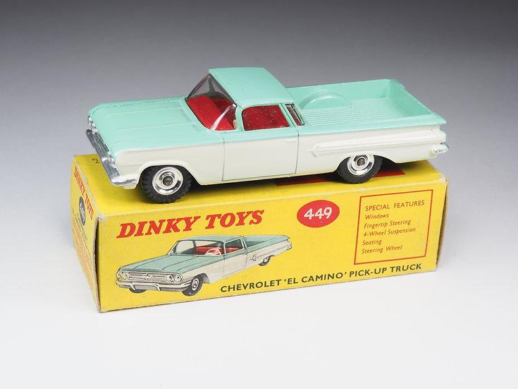 "DINKY TOYS ENGLAND - 449 - CHEVROLET PICK-UP ""EL CAMINO"""