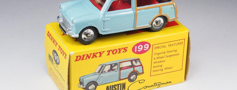 DINKY TOYS ENGLAND - 199 - AUSTIN SEVEN COUNTRYMAN - SUEDE BLUE VARIATION