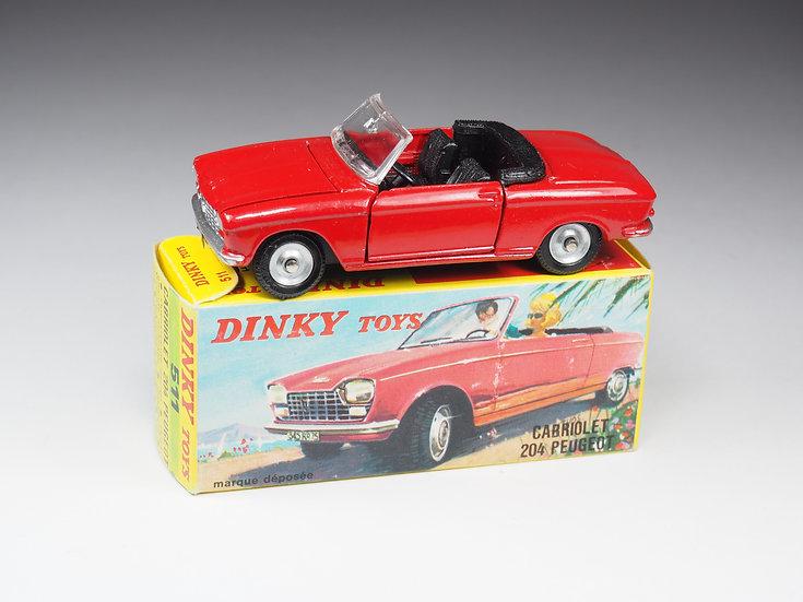 DINKY TOYS FRANCE - 511 - CABRIOLET 204 PEUGEOT