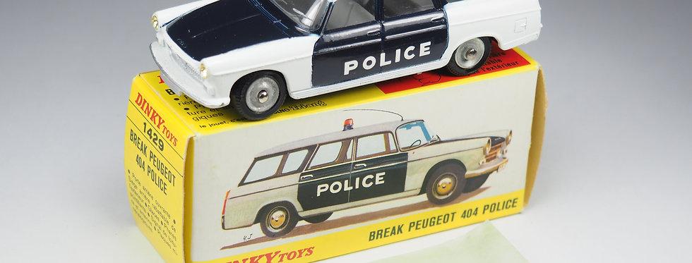 DINKY TOYS FRANCE - 1429 - PEUGEOT BREAK 404 POLICE - 1/43e