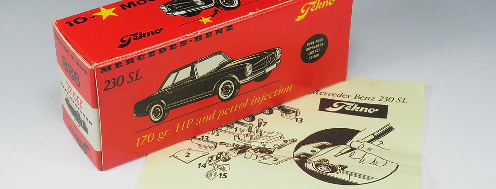 TEKNO - 928- MERCEDES 230 SL - BOITE SEULE (BOX ONLY)