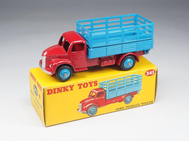 DINKY TOYS ENGLAND - 343 - FARM PRODUCE WAGON - 1/43e