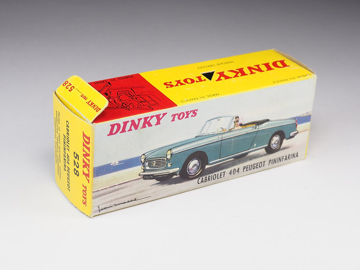 DINKY TOYS - BOX ONLY - 528 -CABRIOLET 404 PEUGEOT PININFARINA