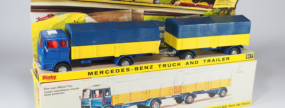 DINKY TOYS ENGLAND - 917 - MERCEDES-BENZ TRUCK - ALL BLUE VERSION