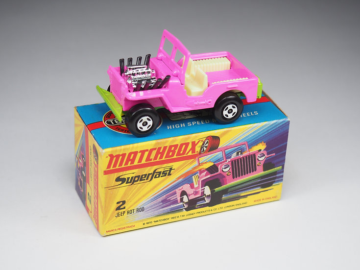 MATCHBOX SUPERFAST - 2 - JEEP HOT ROD