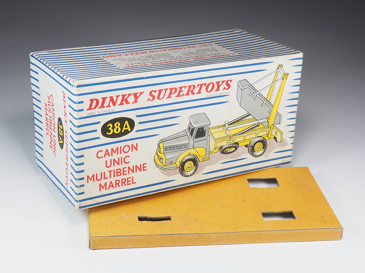 DINKY TOYS - BOX ONLY - 38A - CAMION UNIC MULTIBENNE MARREL