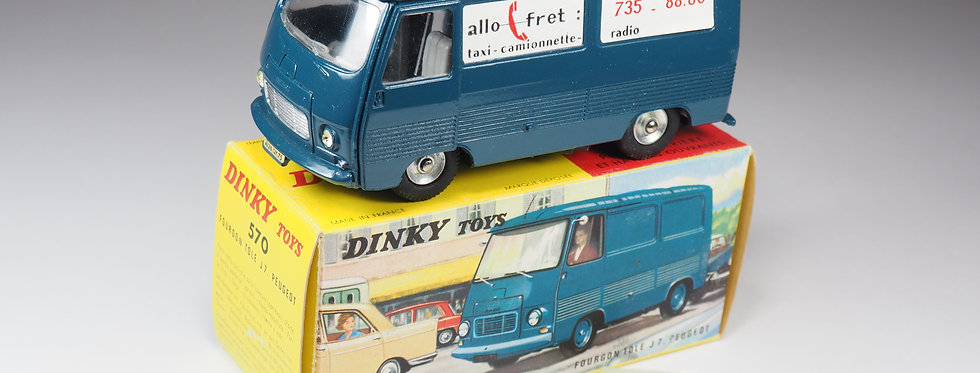 DINKY TOYS FRANCE - 570 - FOURGON PEUGEOT J7 «ALLO FRET»