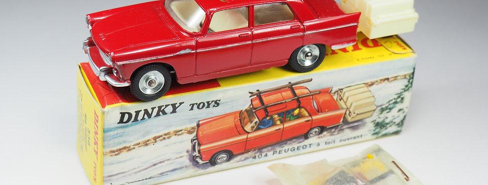 DINKY TOYS FRANCE - 536 - 404 PEUGEOT AVEC SKIS ET REMORQUE - 1/43e