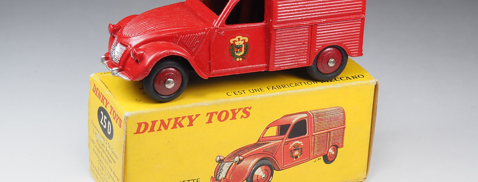 "DINKY TOYS FRANCE - 25D - FOURGONNETTE 2CV CITROËN ""POMPIERS"""