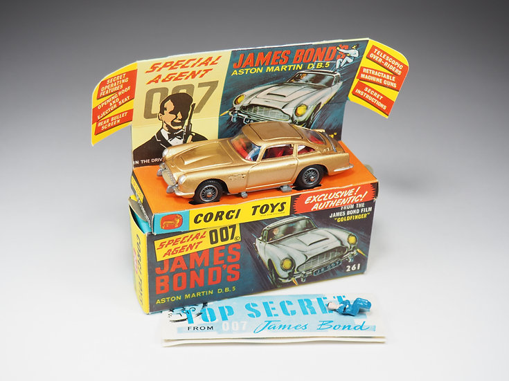 CORGI - 261 - ASTON MARTIN DB5 JAMES BOND « GOLDFINGER » - 1/43e