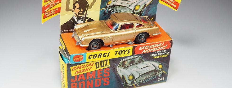 CORGI - 261 - ASTON MARTIN DB5 JAMES BOND «GOLDFINGER» - 1/43e