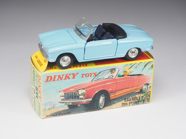 DINKY TOYS FRANCE - 511 - PEUGEOT 204 CABRIOLET - 1/43e