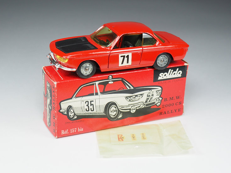 SOLIDO - 157 BIS - BMW 2000 CS RALLYE - 1/43e
